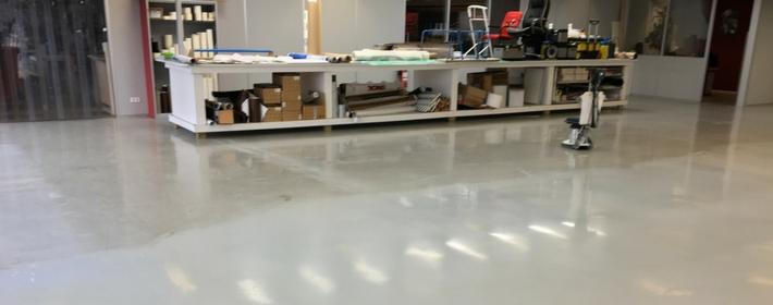 Kunststofvloer onderhoud tijdens